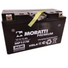 Аккумулятор MORATTI  12В 6 Ач, 120 А (YT7В-BS, MP127B), прямая полярность ¹