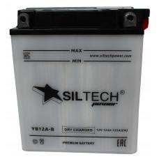 Аккумулятор SILTECH DC 12В 12 Ач, 155 А (YB12A-B), прямая полярность, сухо-заряженный, с электролитом ¹