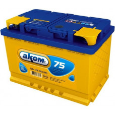 Аккумулятор АКОМ + 75 Ач, 720 А EFB, обратная полярность ⁵