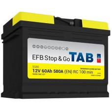 Аккумулятор TAB Stop & Go 60 Ач, 580 А (212060) EFB, Start-Stop, обратная полярность ²