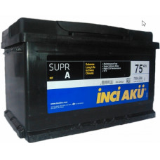 Аккумулятор INCI AKU SuprA 75 Ач, 700 А, низкий, обратная полярность ¹