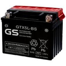 Аккумулятор GS YUASA  12В 4 Ач, 80 А (GTX5L-BS) AGM, обратная полярность, сухо-заряженный, с электролитом ¹