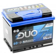 Аккумулятор DUO POWER  60 Ач, 600 А, обратная полярность ²