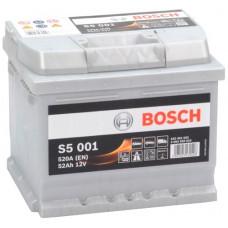Аккумулятор BOSCH S5 52 Ач, 520 А, низкий, обратная полярность ²