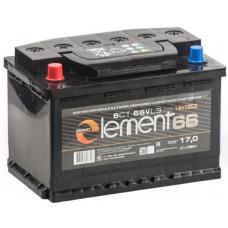 Аккумулятор SMART ELEMENT  66 Ач, 550 А, прямая полярность ²