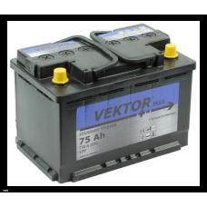 Аккумулятор VEKTOR PLUS 75 Ач, 730 А, обратная полярность ²