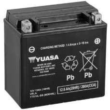 Аккумулятор GS YUASA  12В 12 Ач, 200 А (YTX14L-BS), обратная полярность ⁶
