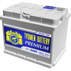 Аккумулятор TYUMEN BATTERY (ТЮМЕНЬ) PREMIUM    64 Ач, 620 А Ca/Ca, прямая полярность ¹