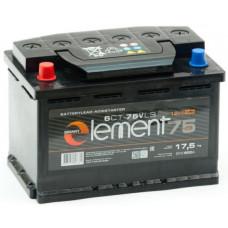 Аккумулятор SMART ELEMENT  75 Ач, 620 А, обратная полярность ²