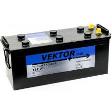 Аккумулятор VEKTOR PLUS 132 Ач, 950 А, европейская полярность, конусные клеммы ²