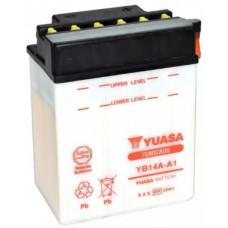 Аккумулятор GS YUASA  12В 14 Ач (YB14A-A1), боковые клеммы полярность ⁶