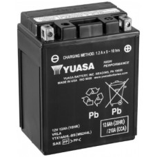 Аккумулятор GS YUASA  12В 12 Ач, 210 А (YTX14AHL-BS), обратная полярность ⁶