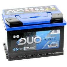 Аккумулятор DUO POWER  66 Ач, 650 А, прямая полярность ²