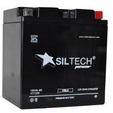 Аккумулятор SILTECH VRLA 12В 30 Ач, 320 А (YB30L-BS), обратная полярность ¹