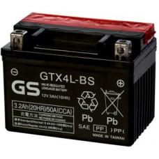 Аккумулятор GS YUASA  12В 3 Ач, 50 А (GTX4L-BS) AGM, обратная полярность, сухо-заряженный, с электролитом ¹