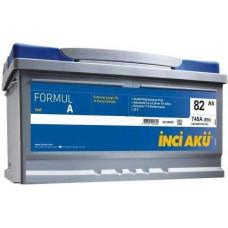 Аккумулятор INCI AKU FormulА 82 Ач, 740 А, низкий, обратная полярность ¹