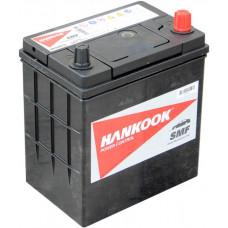 Аккумулятор HANKOOK Asia  44 Ач, 370 А (46B19L), обратная полярность, тонкие клеммы ²