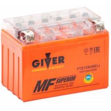 Аккумулятор GIVER ENERGY 12В 11 Ач, 130 А (YTZ12S) GEL, прямая полярность ²