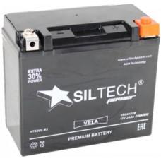 Аккумулятор SILTECH DC MF 12В 20 Ач (YTX20L-BS) AGM, обратная полярность, сухо-заряженный, с электролитом ¹
