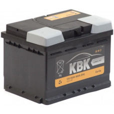 Аккумулятор KBK  55 Ач, 480 А (SMF55001), низкий, обратная полярность ²