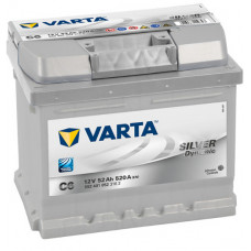 Аккумулятор VARTA Silver Dynamic 52 Ач, 520 А (C6), низкий, обратная полярность ²