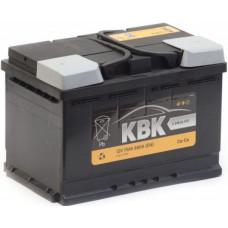 Аккумулятор KBK  70 Ач, 680 А, прямая полярность ²
