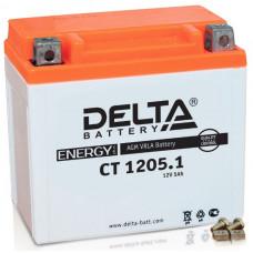 Аккумулятор DELTA CT 12В 5 Ач, 65 А (CT 1205.1), обратная полярность ⁶