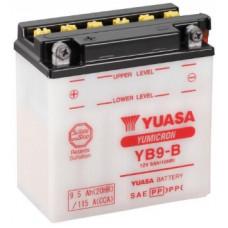 Аккумулятор GS YUASA  12В 9 Ач (YB9-B), прямая полярность, с электролитом ⁶