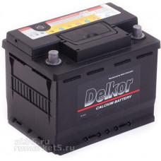 Аккумулятор DELKOR  55 Ач, 525 А (55565), прямая полярность ²