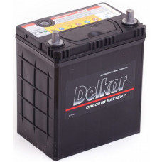Аккумулятор DELKOR Asia  40 Ач, 370 А (46B19R), прямая полярность, тонкие клеммы ²