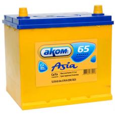 Аккумулятор АКОМ Asia  65 Ач, 570 А (65D23L), обратная полярность, нижний борт ¹