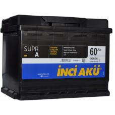 Аккумулятор INCI AKU SuprA 60 Ач, 540 А, низкий, обратная полярность ¹