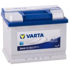 Аккумулятор VARTA Blue Dynamic 60 Ач, 540 А (D43), прямая полярность ¹