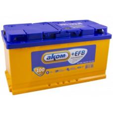 Аккумулятор АКОМ + 100 Ач, 930 А EFB, обратная полярность ⁵