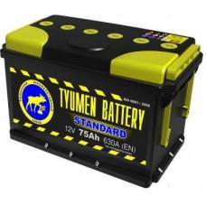 Аккумулятор TYUMEN BATTERY (ТЮМЕНЬ) STANDARD   75 Ач, 630 А Ca/Ca, обратная полярность ¹