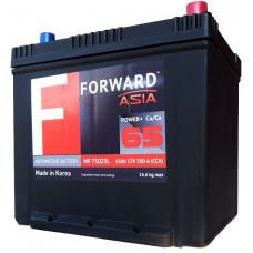 Аккумулятор FORWARD Asia MF 65 Ач, 580 А (75D23L) Ca/Ca, обратная полярность, нижний борт, АКЦИЯ ¹