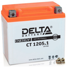 Аккумулятор DELTA CT 12В 5 Ач, 65 А (CT 1205, YB5L-B), обратная полярность, залитый ¹