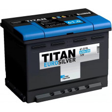 Аккумулятор TITAN Euro Silver 61 Ач, 620 А, обратная полярность ¹