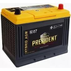 Аккумулятор PRESIDENT Asia  45 Ач, 370 А (AX S46B24L) AGM, обратная полярность, АКЦИЯ ¹