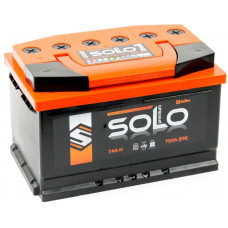 Аккумулятор SOLO PREMIUM 74 Ач, 750 А, прямая полярность ²