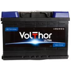 Аккумулятор VOLTHOR Ultra 73 Ач, 630 А, низкий, обратная полярность ¹