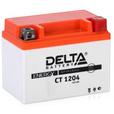 Аккумулятор DELTA CT 12В 4 Ач, 50 А (CT 1204, YT4L-BS), обратная полярность, залитый ¹