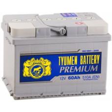 Аккумулятор TYUMEN BATTERY (ТЮМЕНЬ) PREMIUM 60 Ач, 510 А Ca/Ca, низкий, обратная полярность ¹