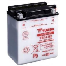Аккумулятор GS YUASA  12В 14 Ач (YB14-B2), прямая полярность ⁶