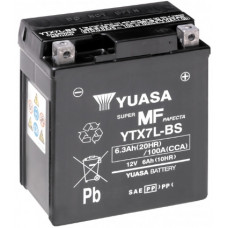 Аккумулятор GS YUASA  12В 6 Ач, 100 А (YTX7L-BS), обратная полярность ⁶