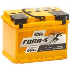 Аккумулятор FORA-S  60 Ач, 500 А, обратная полярность ²