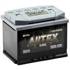 Аккумулятор АКТЕХ CLASSIC 55 Ач, 500 А, прямая полярность ²