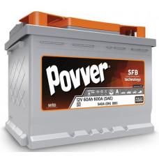 Аккумулятор POVVER SERIE 3 60 Ач, 540 А, прямая полярность ¹