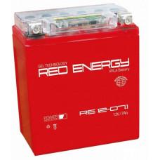Аккумулятор RED ENERGY RE 12В 7 Ач, 110 А (RE 1207.1) GEL ⁶