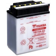 Аккумулятор GS YUASA  12В 14 Ач (YB14A-A2), боковые клеммы полярность, с электролитом ⁶